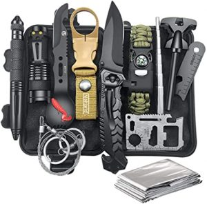 Gifts for Men Dad Husband Fathers Day, Survival Kit 12 in 1, Fishing Hunting (Amazon.com)
