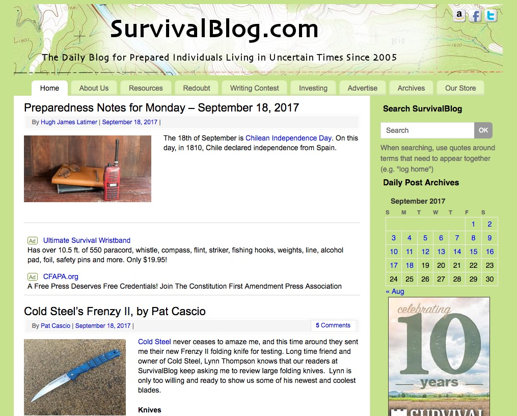 Survival Blog (Blogging.org)