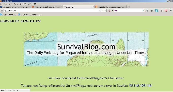 Survival Blog (The Orange Jeep Dad blogs)