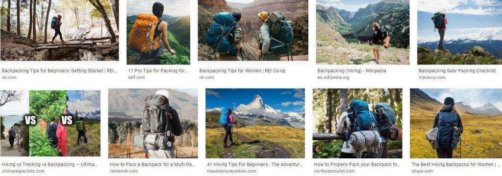 Backpacking Hiking Trips