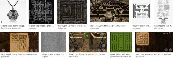 Darkish maze and chain maze